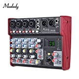 Muslady SM-68 Portable 6-Channel Sound Card Mixing Console Mixer Built-in 16 Effects with USB Audio Interface Supports 5V Power Bank for Recording DJ Network Live Broadcast Karaoke