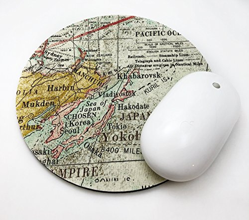 Maps Mouse Pad / Fabric Covered / Office Supplies / Home Office / Decor / Desk / Mac Book / PC / Mousepad / Work Space / Office decor / Retro