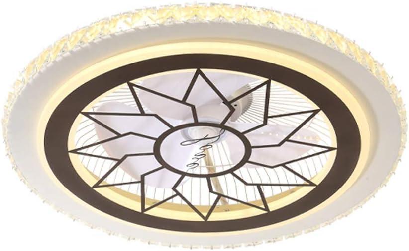 BingWS Ventilador de Techo Luz Moderna de bajo Perfil de Techo de Cristal Ventilador Pantalla de Cristal Ventilador de Techo for la Sala de Estar balcón Dormitorio Estudio (Color : A)