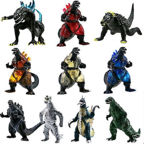 10 Action Figure Godzilla Monsters Mechagodzilla Trendmaster Gigan Anguirus Toys (Original Bane Costume)