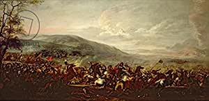 Battle between the hungarians and Turkish (Oil On Canvas) (314692), Alu-Dibond, 120 x 60 cm