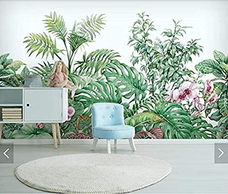 TIANXINBZ Tropical Wall Paper Mural for Living Room Home Wall