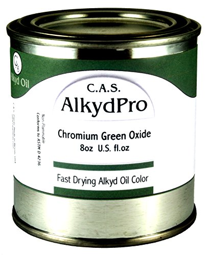 C.A.S. Paints AlkydPro Fast-Drying Oil Color Paint Can, 8-Ounce, Chromium Oxide Green ()