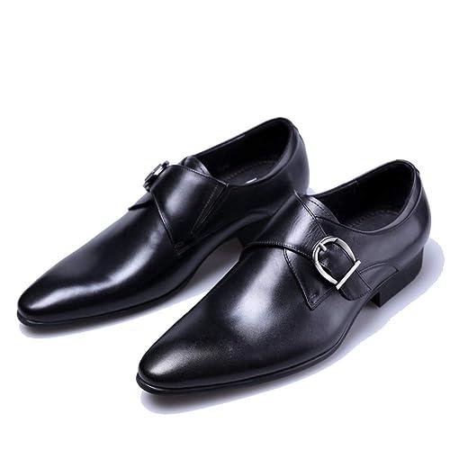 Mocasines de Vestir de Negocios para Hombre Zapatos Puntiagudos Negros Oxford Transpirables Formales Zapatos de diseñador de Boda Cuero de PU: Amazon.es: ...