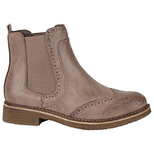 Chelsea Zipper Stiefelparadies Boots Damen Stiefeletten QBErdCxeoW