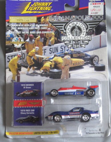 Johnny Lightning Indianapolis 500 Champions Collection 1978 Al Unser Chevy Corvette Pace (1978 Corvette Pace Car)
