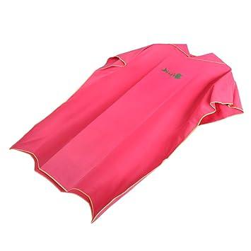 B Baosity Toalla de Poncho Surf con Capucha para Adultos Mujeres Hombre, Traje de Playa de Microfibra Bañador para Baño de Natación Ropa Piscina - Rojo: ...