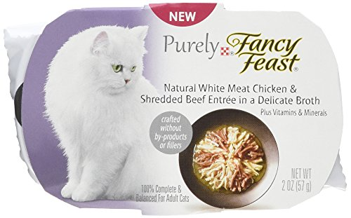 Purina Fancy Feast Fancy Feast Appetizers Natural White Meat Chicken and Shredded Beef Cat Food, 2-Ounce Pouch, Pack of 10 by Purina Fancy Feast