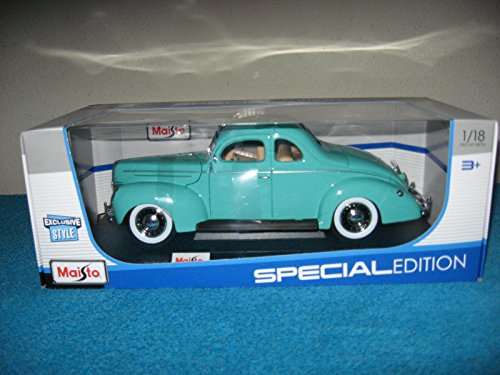 1939 Ford Coupe - Maisto 1:18 Special Edition 1939 Ford Deluxe Coupe - Turquoise Green