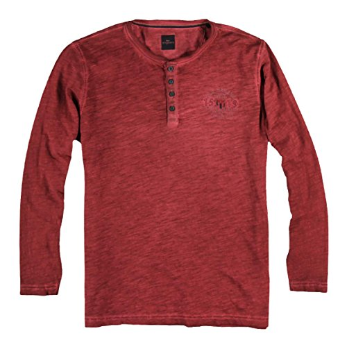 engbers Herren Henley Shirt, 22779, Rot