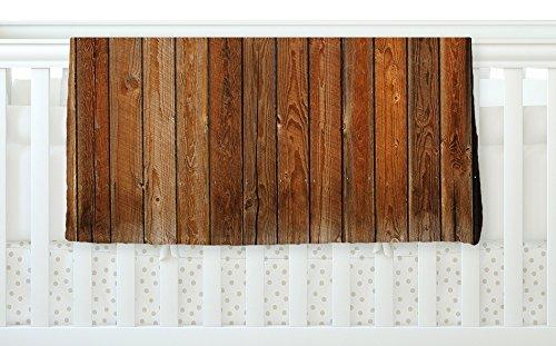 KESS InHouse Susan Sanders ''Rustic Wood Wall'' Nature Brown Fleece Baby Blanket, 40'' x 30''