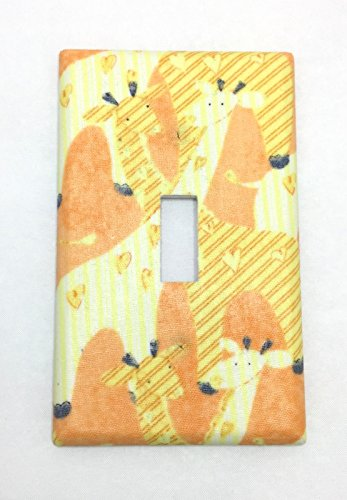 Giraffes Fabric Covered Single Light Switch cover / Switch Plate / Kid