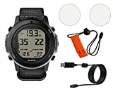 Suunto D6i Novo Dive Computer w/ Whistle, USB, and Scratch Guard (Black)