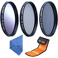 K&F Concept 72mm Graduated Grey CPL ND4 Lens Accessory Filter Kit Graduated Grey Circular Polarizing Filter Neutral Density Filter for Canon 7D 60D 70D 500D for Nikon D7000 D600 D300 D800 D7100 for Sony A77 NEX 5 DSLR Cameras + Microfiber Lens Cleaning Cloth + Filter Bag Pouch