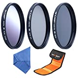 K&F Concept 67mm Graduated Grey CPL ND4 Lens Accessory Filter Kit Graduated Grey Circular Polarizing Filter Neutral Density Filter for Canon 7D 700D 600D 70D 60D 650D 550D for Nikon D7100 D80 D90 D7000 D5200 D3200 D5100 D3200 D5300 DSLR Cameras + Microfiber Lens Cleaning Cloth + Filter Bag Pouch