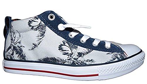 Converse - Zapatillas de Lona para hombre gris Palm/Navy