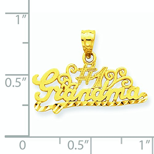 Numéro 1en or 14carats avec pendentif-Dimensions 17,5x 17,5x 24mm