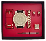 Techno Pave Iced Out Watch + Interchangeable Band + Bracelet + Iced out Earrings + Iced out Ring