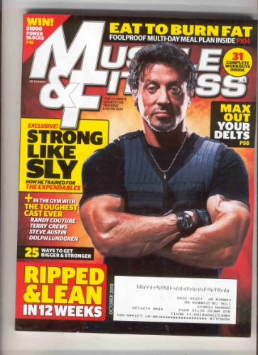 Muscle & Fitness Magazine October 2010 (Best Workout Plan For Men To Get Ripped)