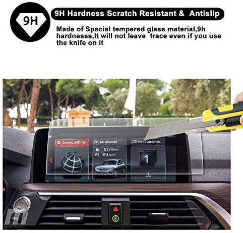 R RUIYA HD Clear Tempered Glass Protective Film Customized for 2019 BMW X4 G02 10.25 Inch Touch Screen Car Display Navigation Screen Protector