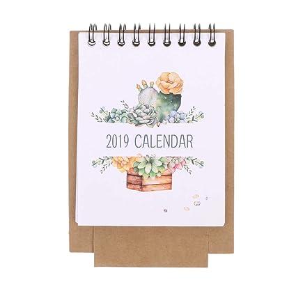 Calendario Dibujo 2019.Kathope 2019 Calendario De Escritorio Con Dibujos Animados