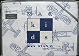 Max Studio Kids Vintage Airplane Schematic Line Drawing Sheet Set, Full Size