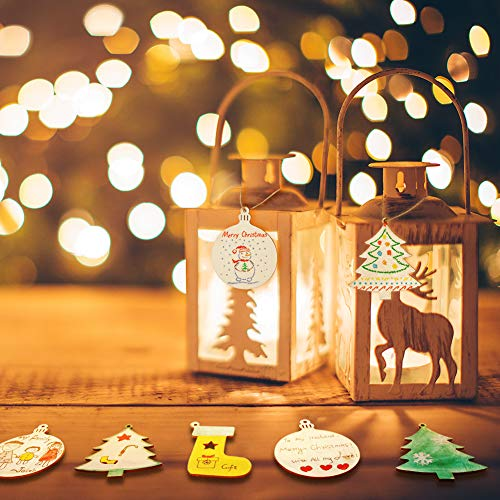 Tonak Unfinished Wood Pieces Wooden Ornaments Christmas Crafts