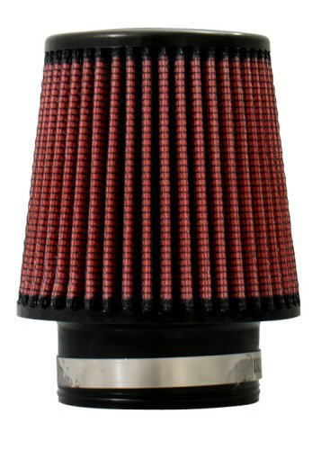 "Injen Technology X-1017-BR Black and Red 3"" High Performance Air Filter"