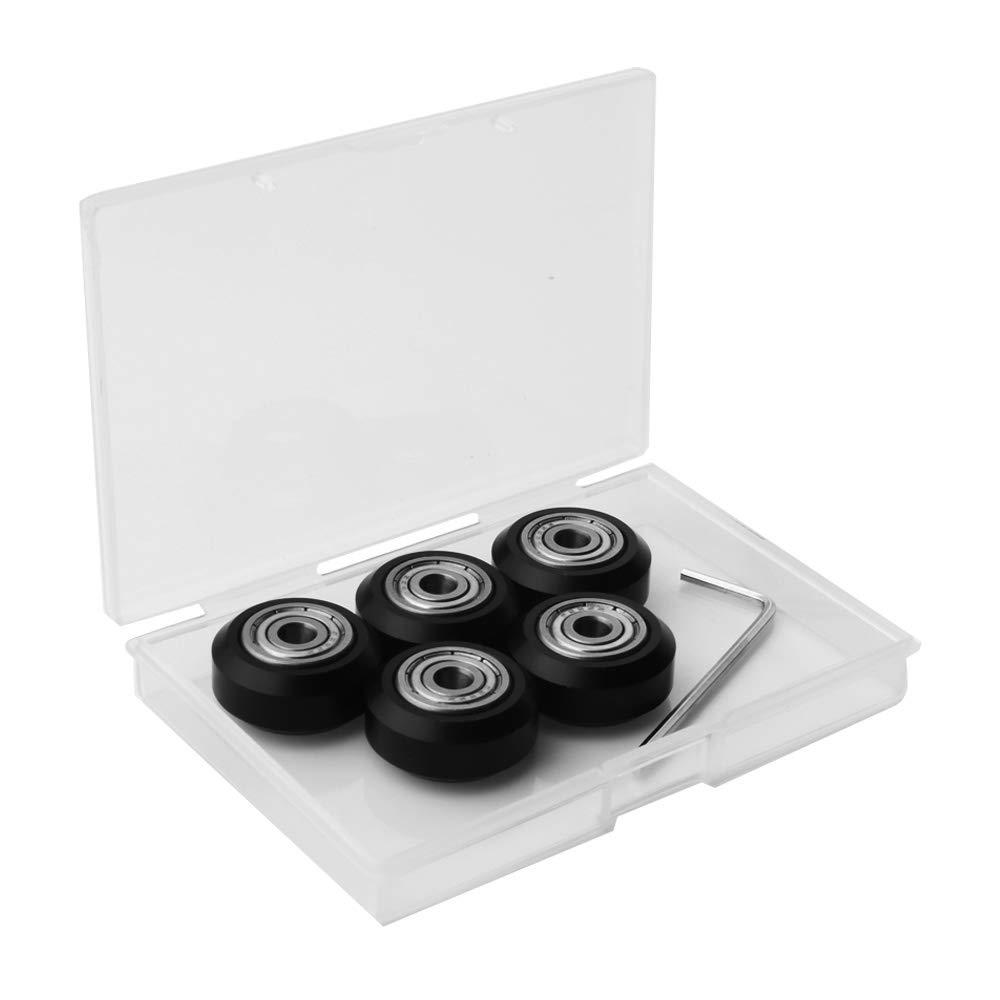 3D Imprimante Mod/èles Poulie V-slot POM Poulie En Plastique Mod/èles Roulements /à Billes V Roulement Poulie Passive roues Roulantes RUNCCI 10 pcs