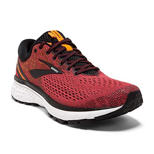 Brooks Mens Ghost 11 Running Shoe - Red/Black/Orange - D - 7.0 (Shoe Cushion Ride Running 5)