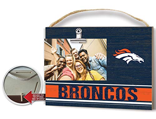 KH Sports Fan Clip It Colored Logo Photo Frame Denver Broncos