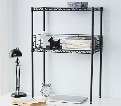 Suprima Mini Desktop Carbon Steel Bookshelf - Small Version - Gunmetal Gray