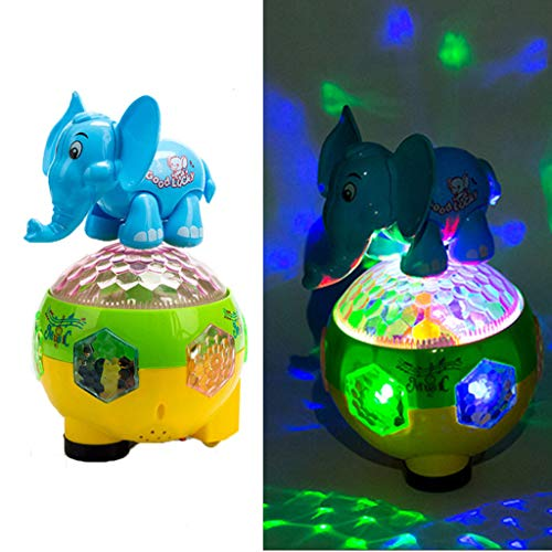 - Gbell Kids Electric Elephant Dolphin Rabbit Ball Toys with Lights and Music - Flash Induction Sliding Animal Ball Educational Toy Birthday Gifts for Toddlers Boys Girls Age 3+ Years Old (Elephant)