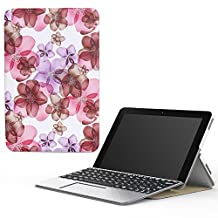 "MoKo Transformer Book Mini T102HA Case, Ultra Compact Lightweight Slim Shell Cover Case, with Auto Wake/Sleep for 2016 ASUS Transformer Book Mini T102HA-D4-GR 10.1"" Tablet/2 in 1 Laptop, Floral Purple"