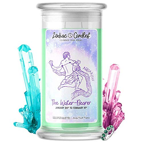(♒ Aquarius   Zodiac Star Signs Jewelry Candle 21oz   Surprise Prize Valued at $15 - $7,500 Inside   Choose From 30+ Scents   French Vanilla   Ring (Size 6))