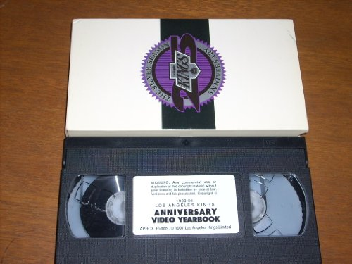 LOS ANGELES KINGS Professional Hockey SILVER ANNIVERSARY 1990-91 Video Yearbook. 65 minutes of action, interviews, commentary, and archival footage. VHS Videocassette in original slipcase.
