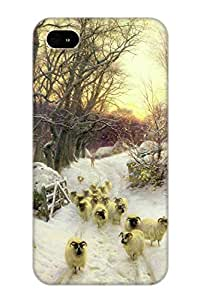 For Iphone Case, High Quality The Sun Had Closed The Winter S Day For Iphone 4/4s Cover Cases / Nice Case For Lovers