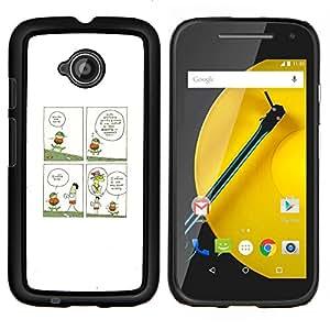 """Be-Star Único Patrón Plástico Duro Fundas Cover Cubre Hard Case Cover Para Motorola Moto E2 / E(2nd gen)( Gracioso - jirafa Ilustración"""" )"""