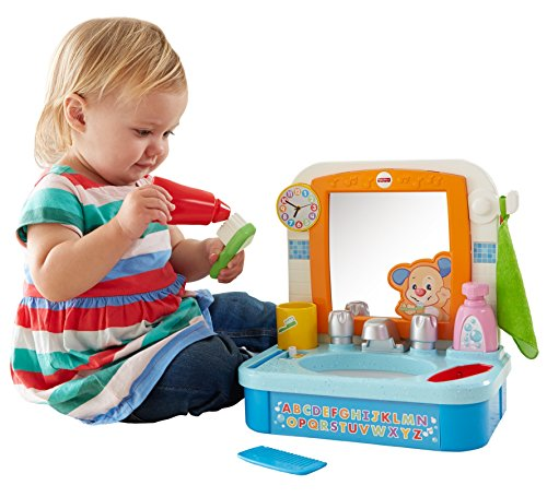 Fisher-Price DHC27 Laugh & Learn Let's Get Ready Sink Baby Toy ()