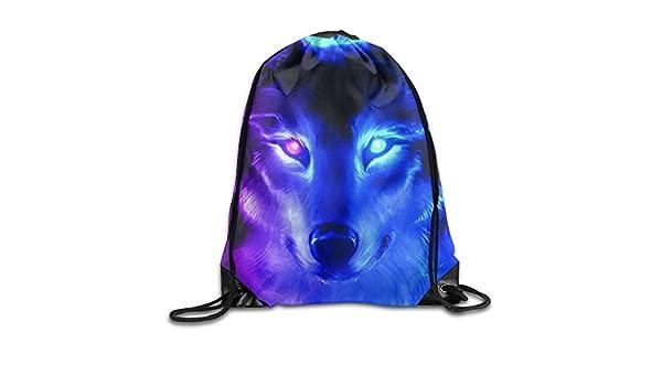 80628dcd4667 Amazon.com: Animal Wolf 3D Graphic Unisex Drawstring Backpack ...