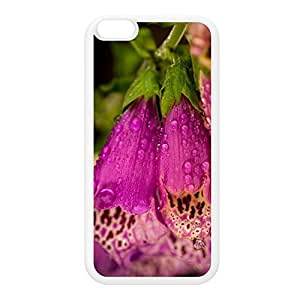 Foxgloves White Silicon Rubber Case for iPhone 6 Plus by Mick Agterberg + FREE Crystal Clear Screen Protector