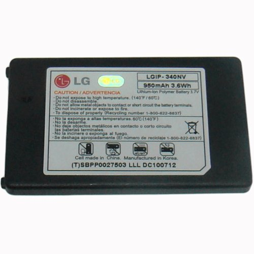 LG LGIP340NVSTD 950mAh Original OEM Battery for the LG Cosmos VN250 and Octane VN530 - Non-Retail Packaging - Black