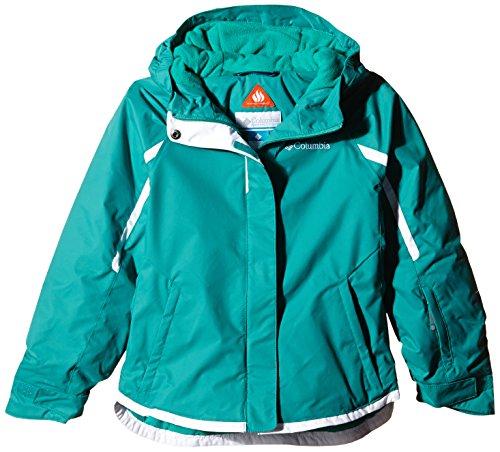 Columbia Sportswear Girls Alpine Action Jacket, Mayan Green, XX-Small (Insulated Columbia Parka Sportswear)