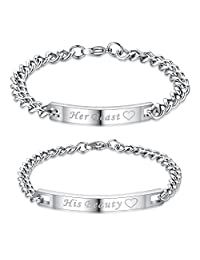 His and Hers Matching Set Stainless Steel Bracelet (2PCS)