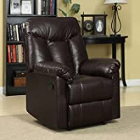 ProLounger RCL6-DAB19 Wall Hugger Microfiber Montero Back Recliner Chair, Brown