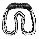 SaveStore Bicycle Lock Reflective Cover Bike Digital Chain Lock Security Outddor Anti-Theft Locks Motorcycle Cycling Bicycle Accessories