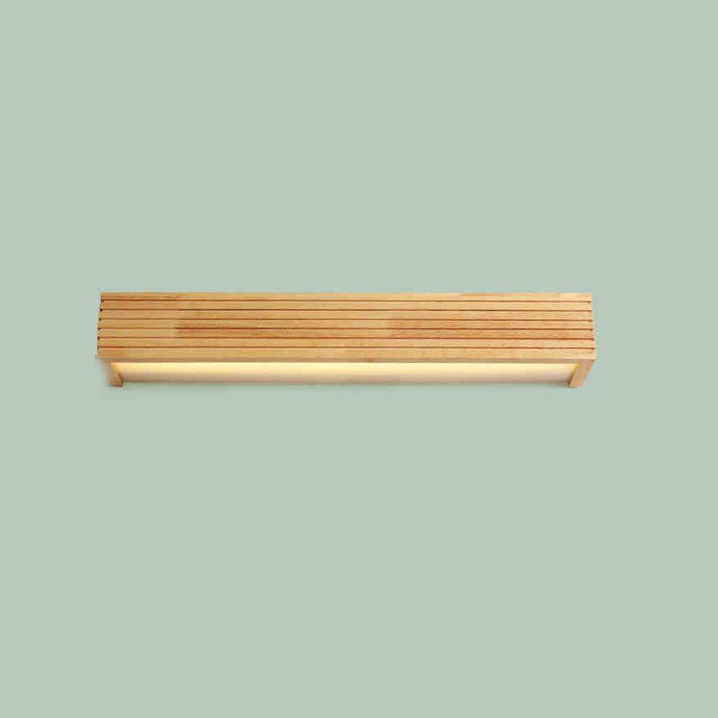 JJJJD Spiegel Licht Jane Europäischen Stil Spiegelschrank Licht, LED-Mode Make-up Schrank Licht, Massivholz + Acryl Holz Farbe, Farbe  weißes Licht, warmweißes Licht (36cm-56cm lang)   (14.2inch-22inc
