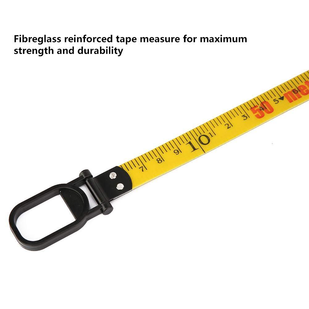 Fiberglas Tape Measure Geb/äudevermessung Messwerkzeug 50m 164ft f/ür Tailor Measurement Engineer Bau Mauerwerk Zimmerei Gelb Zunate Tape Measure