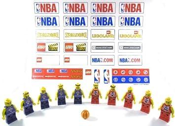 LEGO - Juego completo de la NBA con balón de baloncesto y 2 ...