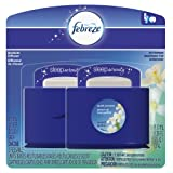 Febreze Sleep Serenity Bedside Refresh Diffuser Set, Quiet Jasmine, 5.5 ml, 2 Count